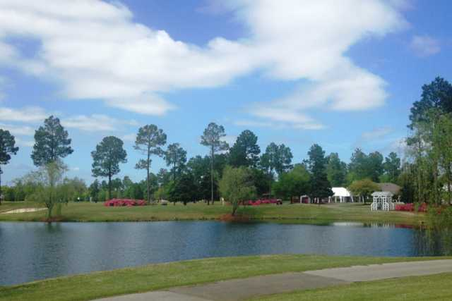 A view over the water from Magnolia Greens Golf Course