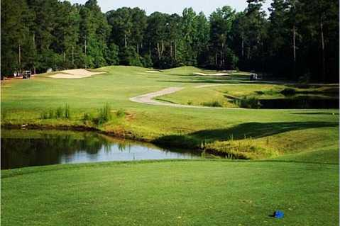 A view from a tee at Magnolia Greens Golf Course