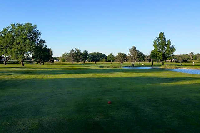 A view from a tee at Milt's Golf Center