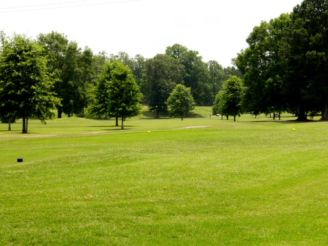 A view of a tee at Jackson National Golf Club