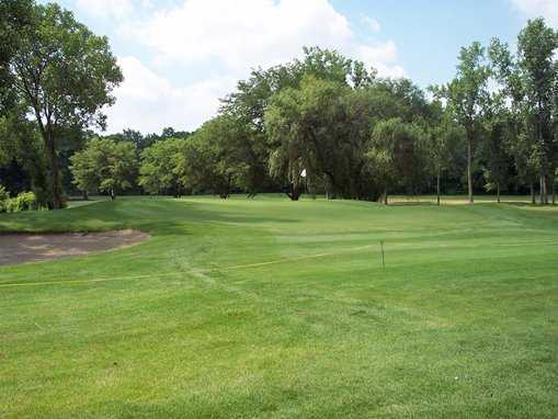 A view of the 4th green at Riverbend Golf Course