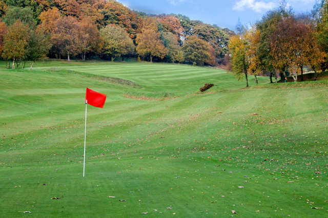 A view of a hole at Glossop & District Golf Club