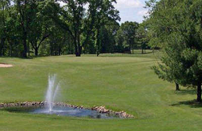 A view of a green at Fairfield Hills Golf Course