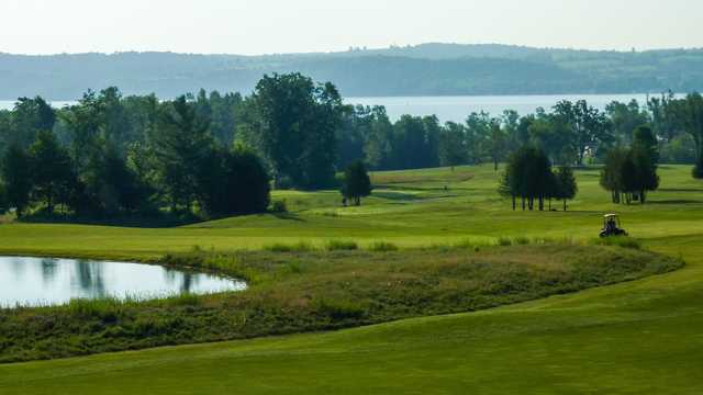 A morning view from Bellmere Winds Golf Club