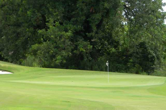 A view of a hole at Oakwing Golf Club