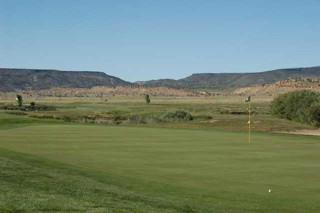 A view of a hole at Coyote del Malpais Golf Course