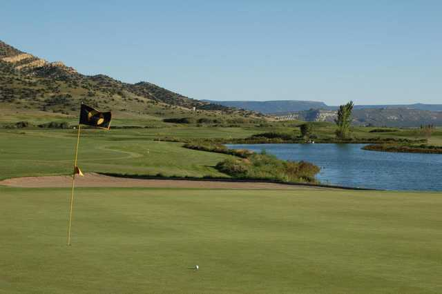 A view of a green at Coyote del Malpais Golf Course