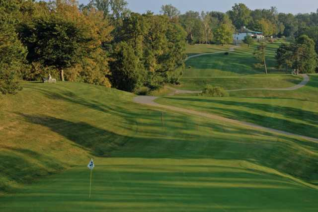 A view of a green at Devou Park Golf Course