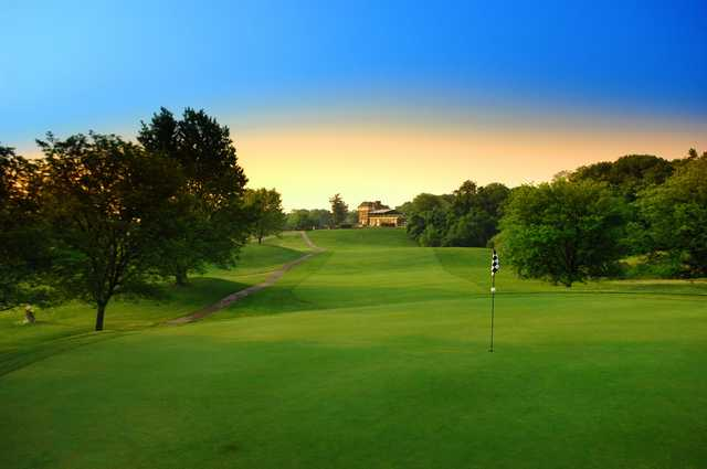 A view of a green at Avon Fields Golf Course