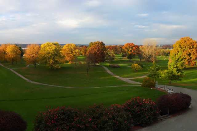 A fall view from Avon Fields Golf Course
