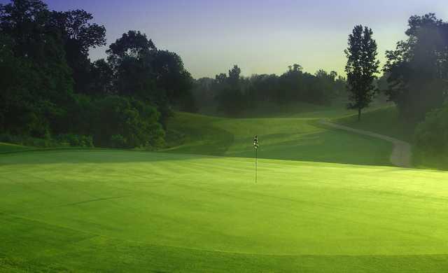 A view of a green at Neumann Golf Course