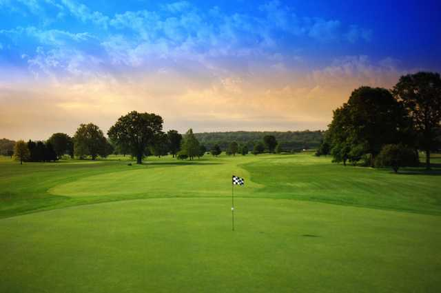 A view of a green at Regulation from Reeves Golf Course
