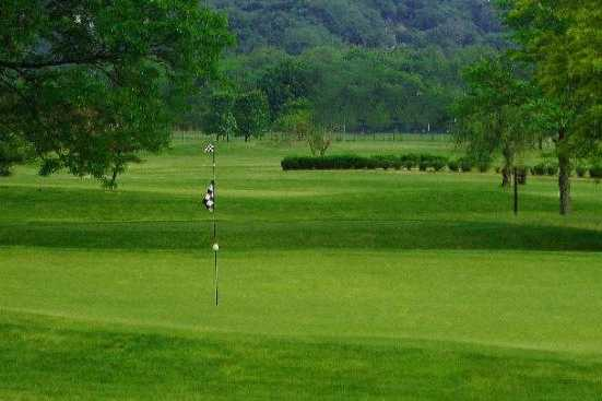 A view of a hole at Reeves Golf Course