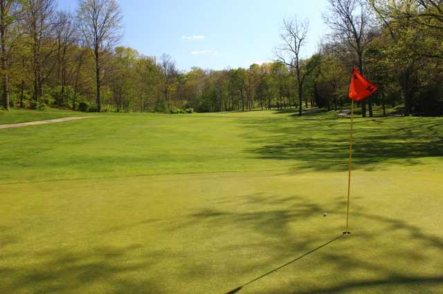 A view of hole #14 at Hickory Woods Golf Course
