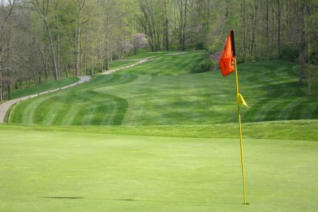 A view of the 12th hole at Hickory Woods Golf Course