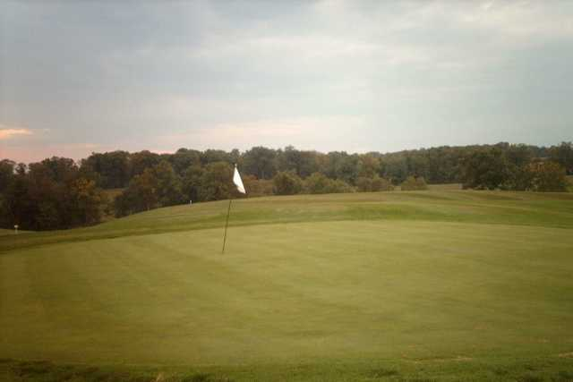 A view of a hole at Country View Golf Course