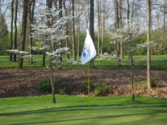 A fresh view from a green at the Golf Club from Yankee Trace