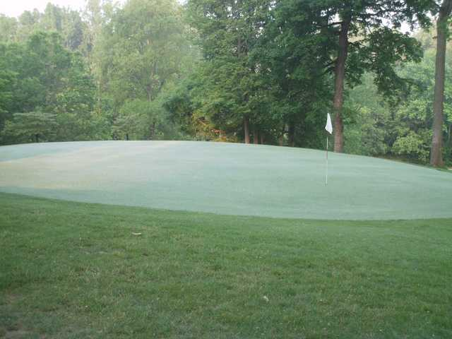 A view of a green at Cliffside Golf Course