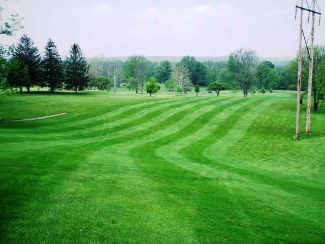 A view of a fairway at Cliffside Golf Course