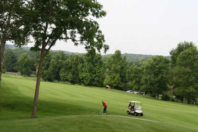 A view of a fairway at Sugar Valley Country Club