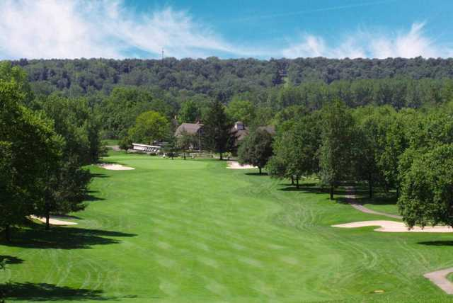 A view from the 18th tee at Sugar Valley Country Club