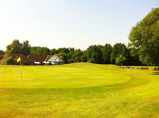 A view of a hole at Milford Golf Club