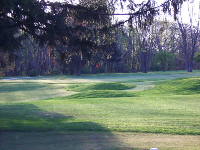 A view of the 11th green at Cedar Lake Golf Course