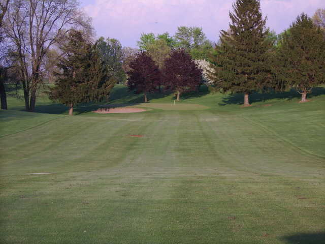 A view of hole #15 at Cedar Lake Golf Course