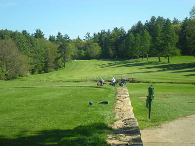 A view from the 1st tee at Hopedale Country Club