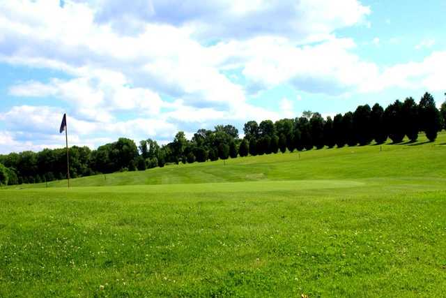 A view of a green at Vineyard Valley Golf Club