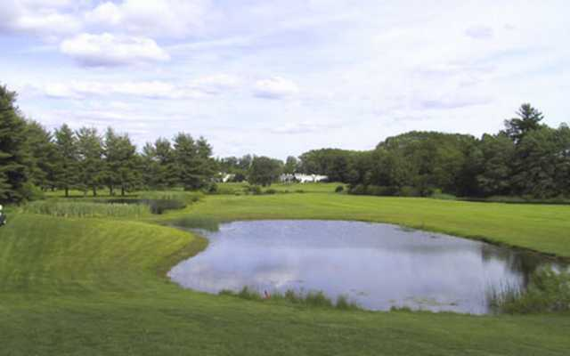 A view over a pond at Indian Meadows Golf Club