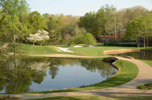 A view over the water from Chanticleer at Greenville Country Club