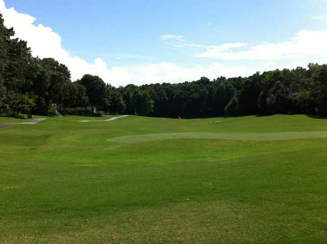 A view of the 2nd green at Creekside from Pebble Creek Country Club