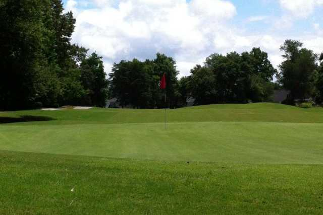 A view of the 9th hole at Linkside from Pebble Creek Country Club