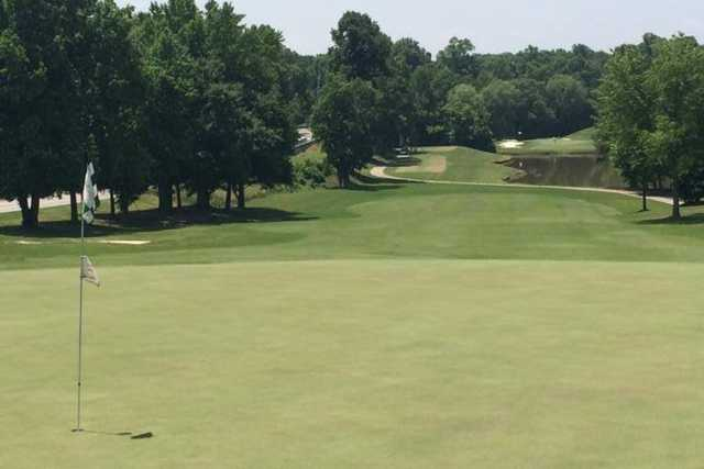 A view of a hole at Holly Tree Country Club