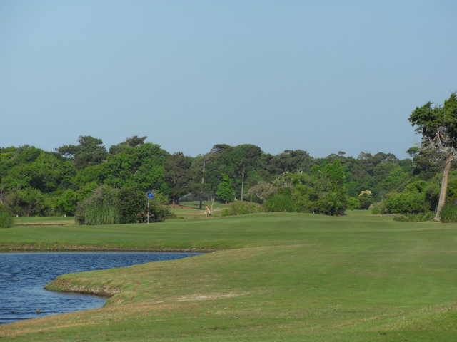 A view of hole #3 with water coming into play at the Crystal Coast Country Club