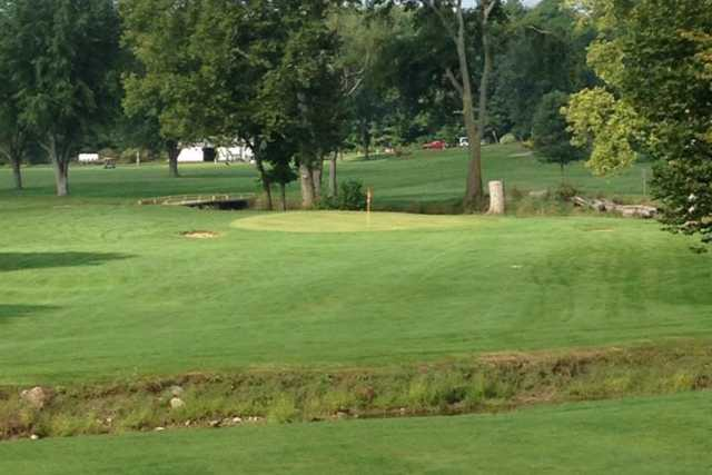 A view of a green at Union City Country Club