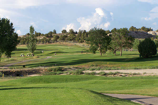 A view from a tee at Aztec Municipal Golf Course
