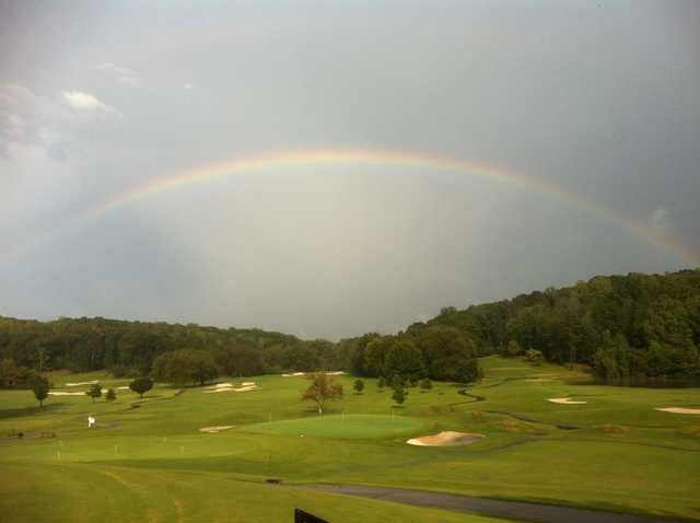 A rainbow view from Carolina Country Club