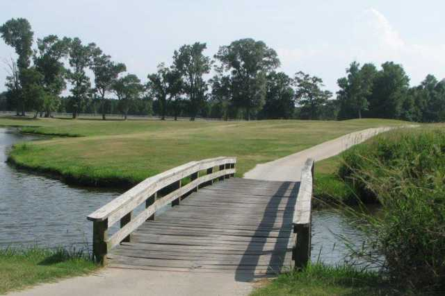 A view over a bridge at The Links at Mulberry Hill.