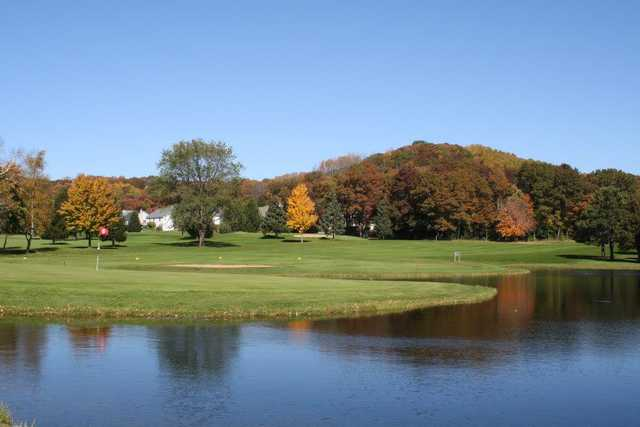 A view of the 6th green at Princeton Valley Golf Course