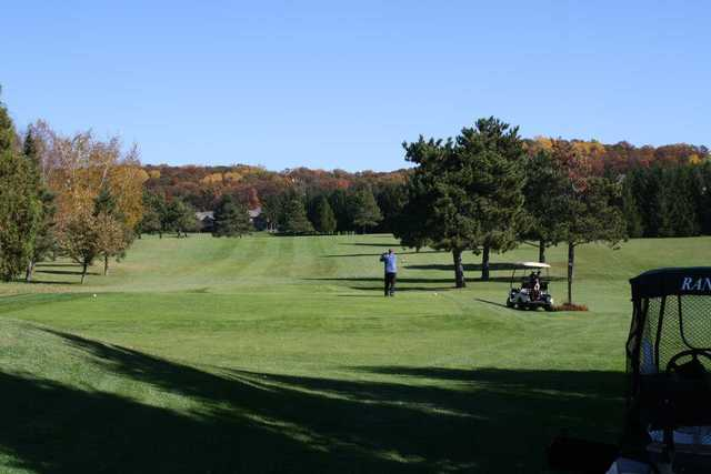 A view from a tee at Princeton Valley Golf Course