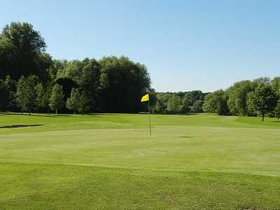 A view of the 18th hole at Beedles Lake Golf Centre