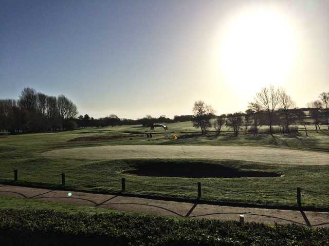 A morning view of a hole at Barnham Broom Hotel