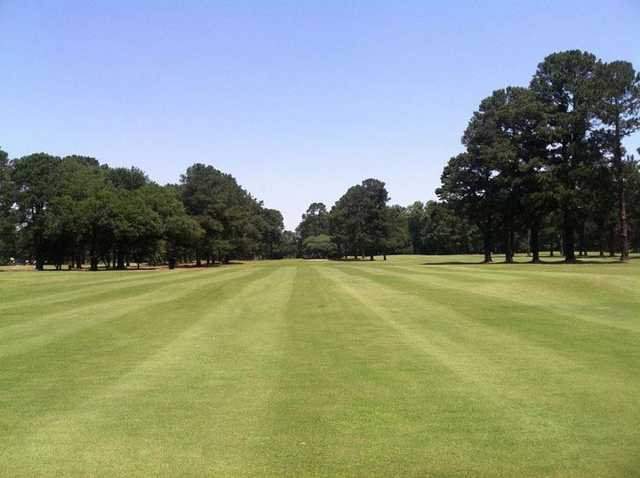 A view of a fairway at Twin Lakes Country Club