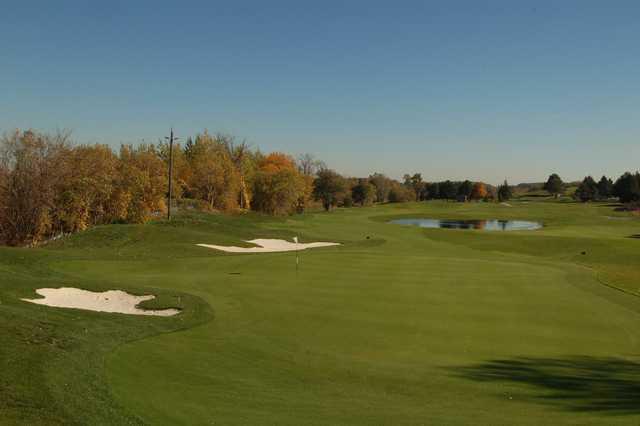 A view of the 15th green at Shawneeki Golf Club