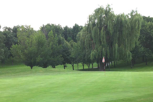 A view of a hole at Hickory Hills Country Club