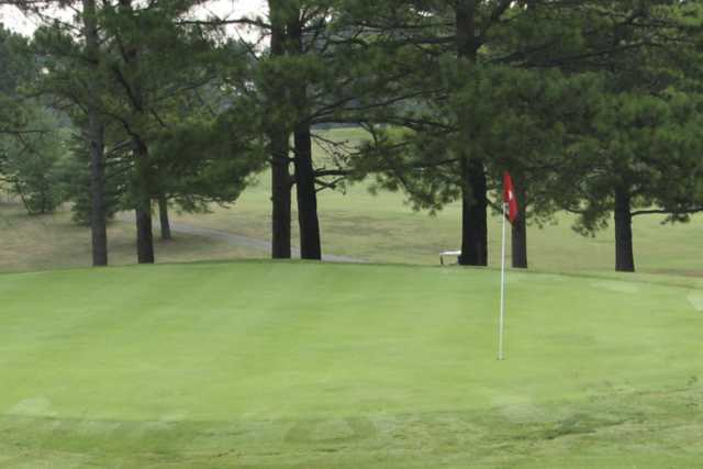 A view of a green at Whittle Springs Golf Course