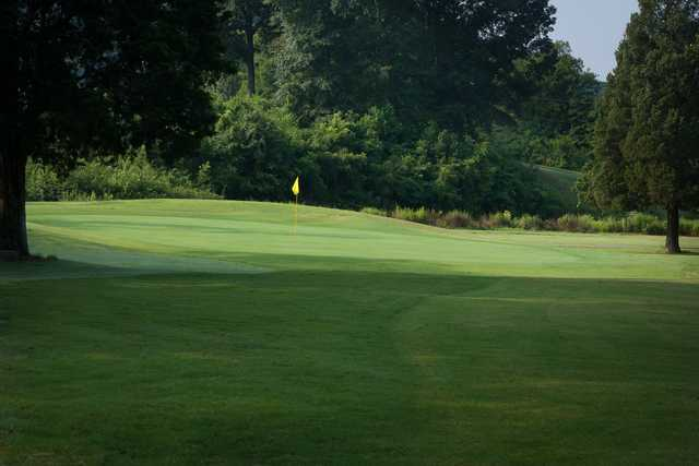 A view of a green at Knoxville Golf Course