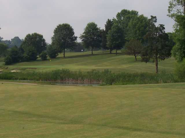 A view over the water from Willow Creek Golf Club
